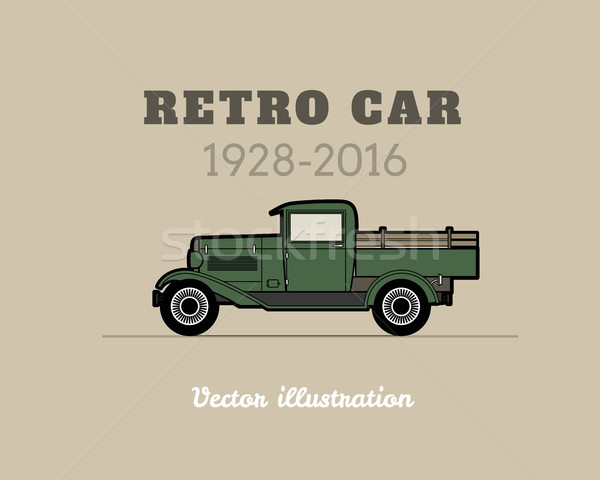Retro pickup, truck car, vintage collection Stock photo © sidmay