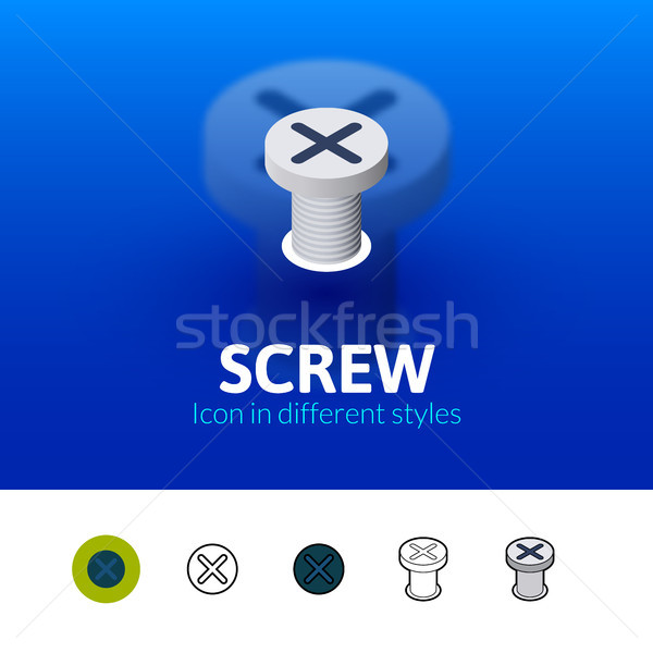 Screw icon in different style Stock photo © sidmay
