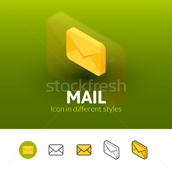 Mail icon in different style Stock photo © sidmay