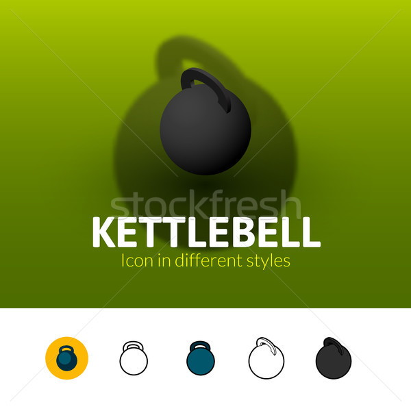 Kettlebell icon in different style Stock photo © sidmay