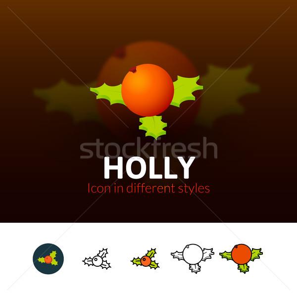 икона различный стиль цвета вектора символ Сток-фото © sidmay