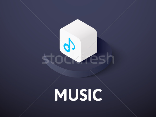 Music isometric icon, isolated on color background Stock photo © sidmay