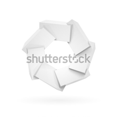 Join white shiny glossy plastic cubes Stock photo © sidmay