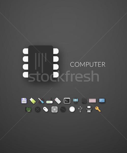 Design moderno marca identità stile web Foto d'archivio © sidmay