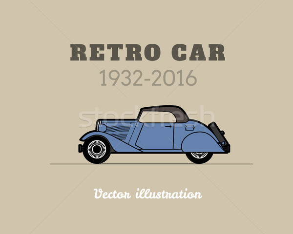 Retro cabriolet auto vintage raccolta classico Foto d'archivio © sidmay
