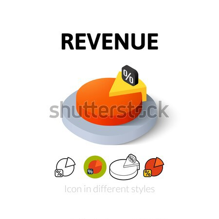Revenue icon in different style Stock photo © sidmay