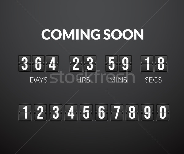 Coming Soon, flip countdown timer panel Stock photo © sidmay