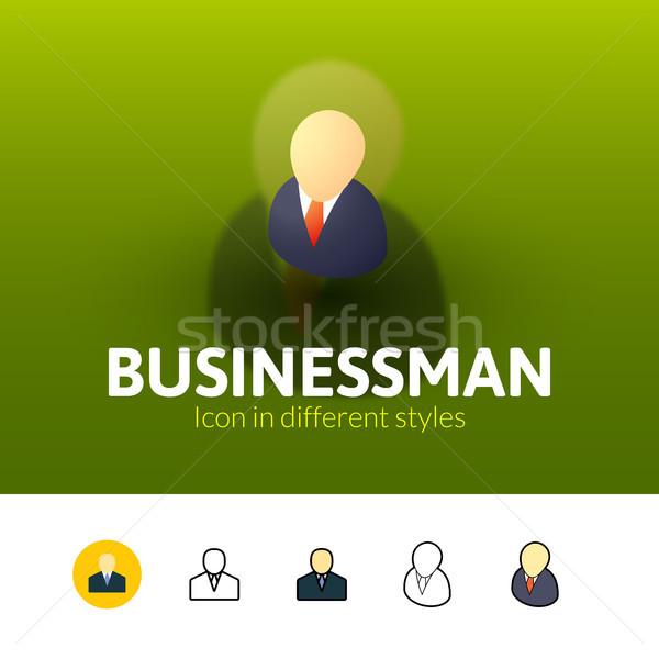 ビジネスマン アイコン 異なる スタイル 色 ベクトル ストックフォト © sidmay