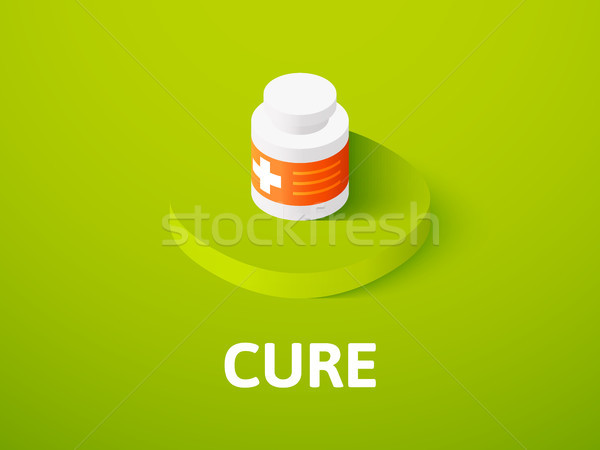Cure isometric icon, isolated on color background Stock photo © sidmay