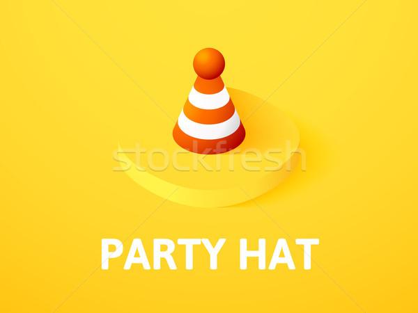 Partij hoed isometrische icon geïsoleerd kleur Stockfoto © sidmay