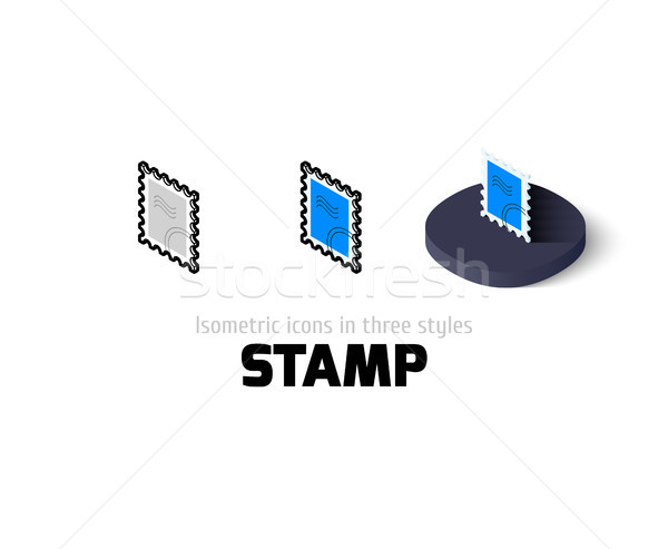 Stamp icon in different style Stock photo © sidmay