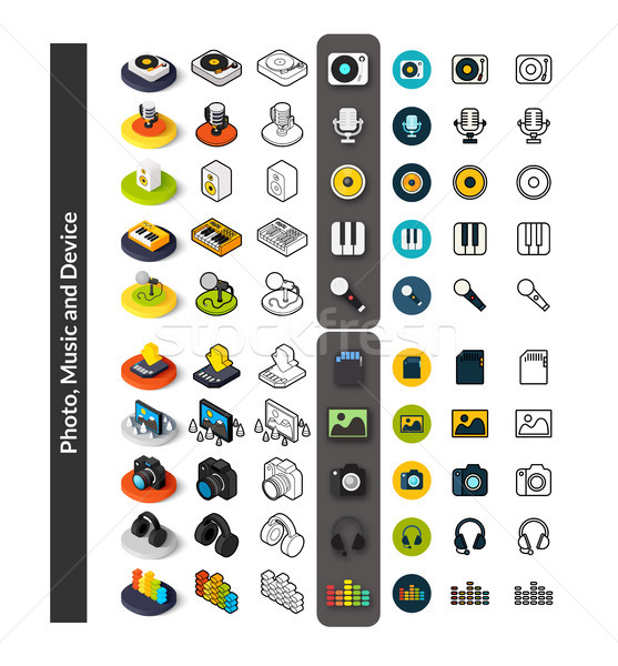 Conjunto ícones diferente estilo isométrica Foto stock © sidmay