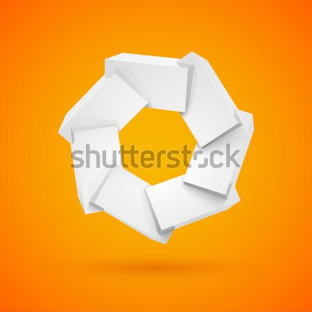 Yellow bubble chat message Stock photo © sidmay