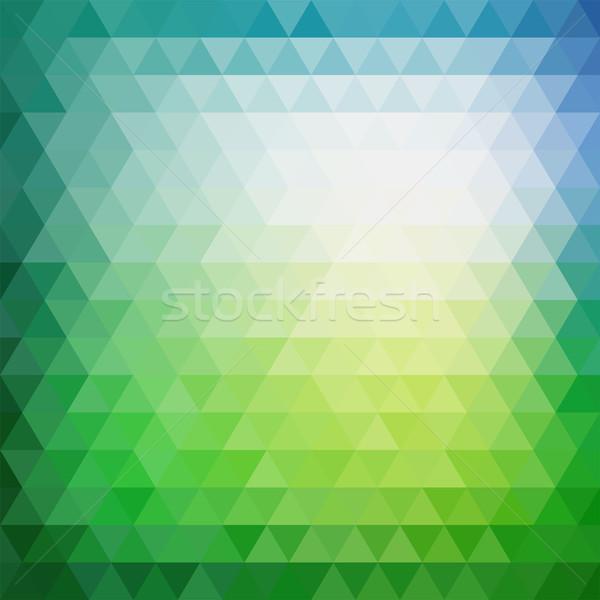 ретро мозаика шаблон геометрический треугольник Сток-фото © sidmay