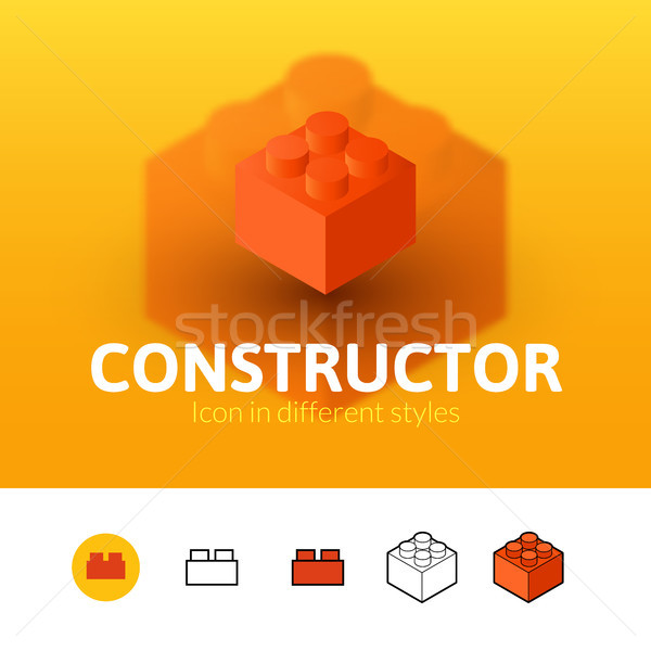Constructor icon in different style Stock photo © sidmay