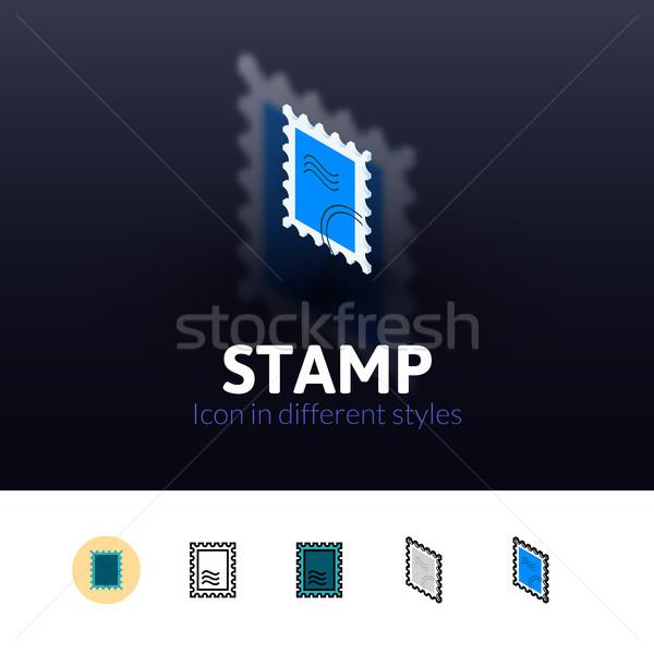 штампа икона различный стиль цвета вектора Сток-фото © sidmay