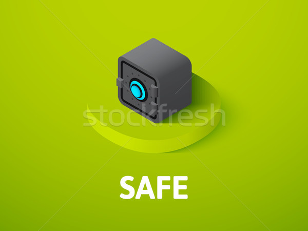Safe isometric icon, isolated on color background Stock photo © sidmay