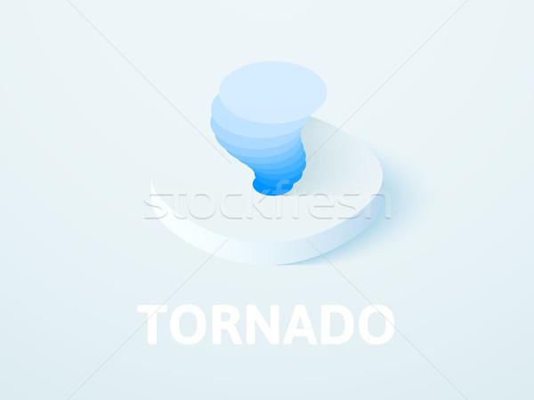 Tornádó izometrikus ikon izolált szín vektor Stock fotó © sidmay