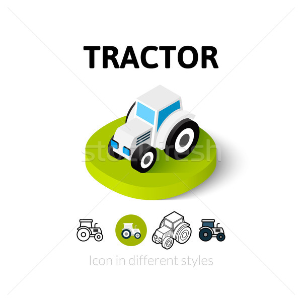 Tracteur icône différent style vecteur symbole Photo stock © sidmay