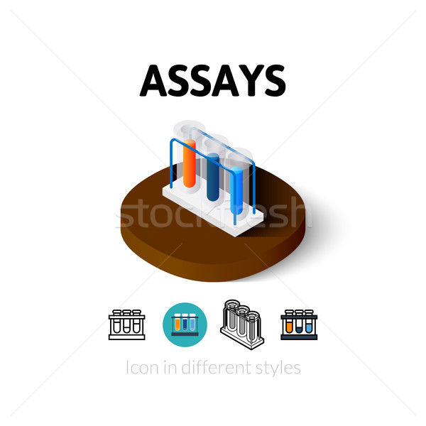 Assays icon in different style Stock photo © sidmay