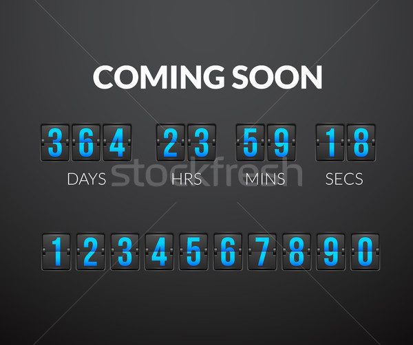 Stock photo: Coming Soon, flip countdown timer panel