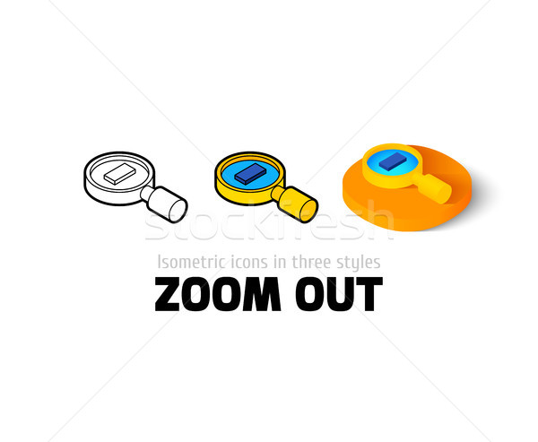 Zoom out icon in different style Stock photo © sidmay