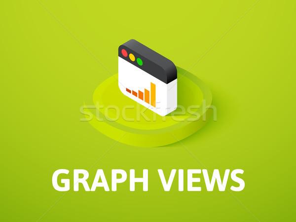 Gráfico icono aislado color vector Foto stock © sidmay