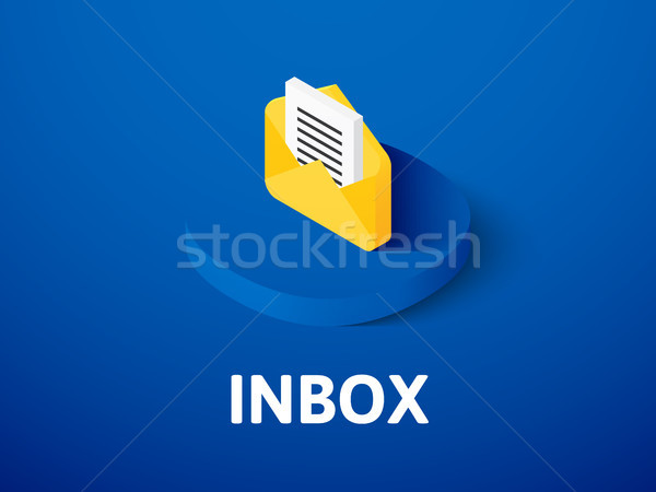Inbox isometric icon, isolated on color background Stock photo © sidmay
