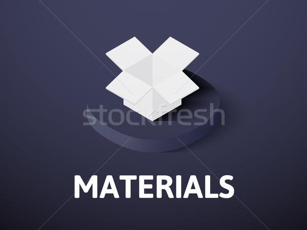 Materiais isométrica ícone isolado cor vetor Foto stock © sidmay