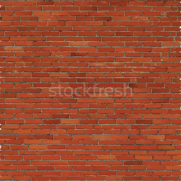 Brick wall, red relief texture with shadow Stock photo © sidmay