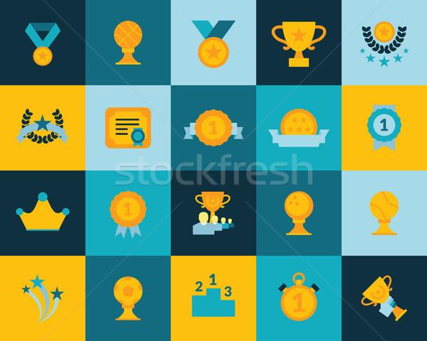 Flat icons set 29 Stock photo © sidmay