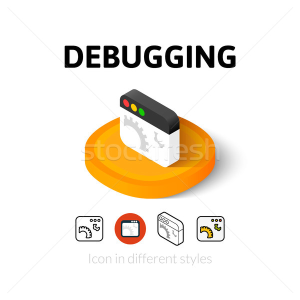Debugging icon in different style Stock photo © sidmay