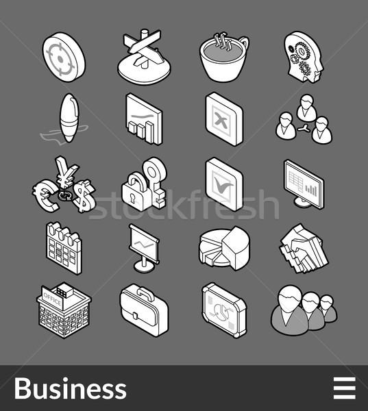 Isométrique icônes 3D pictogrammes Photo stock © sidmay