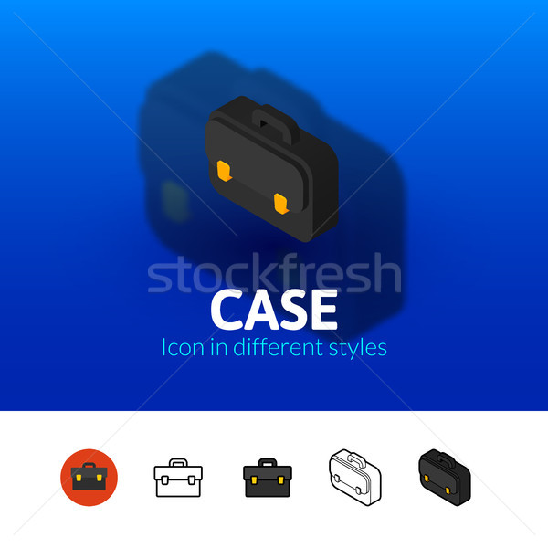 Case icon in different style Stock photo © sidmay