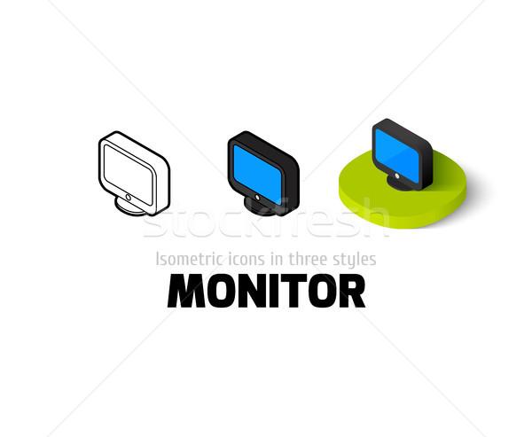 Monitor ikon különböző stílus vektor szimbólum Stock fotó © sidmay