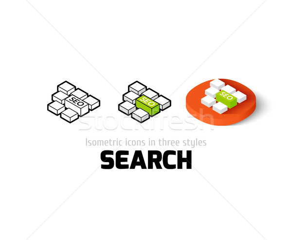 Search icon in different style Stock photo © sidmay