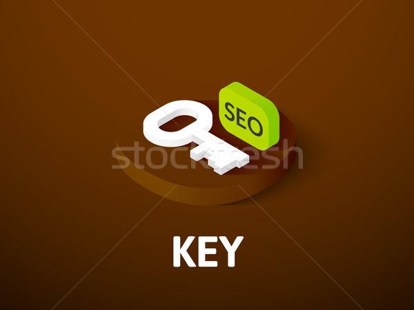 Anahtar izometrik ikon yalıtılmış renk vektör Stok fotoğraf © sidmay