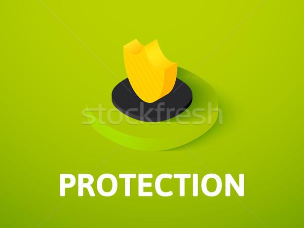защиту изометрический икона изолированный цвета вектора Сток-фото © sidmay