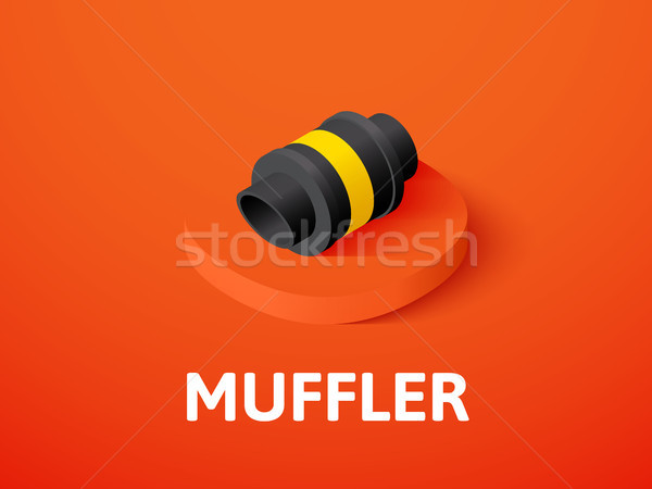 Muffler isometric icon, isolated on color background Stock photo © sidmay