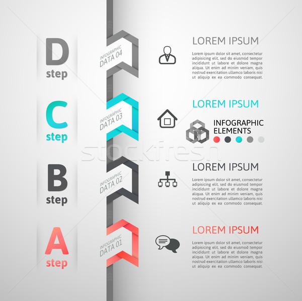 Moderno negócio passo origami estilo opções Foto stock © sidmay