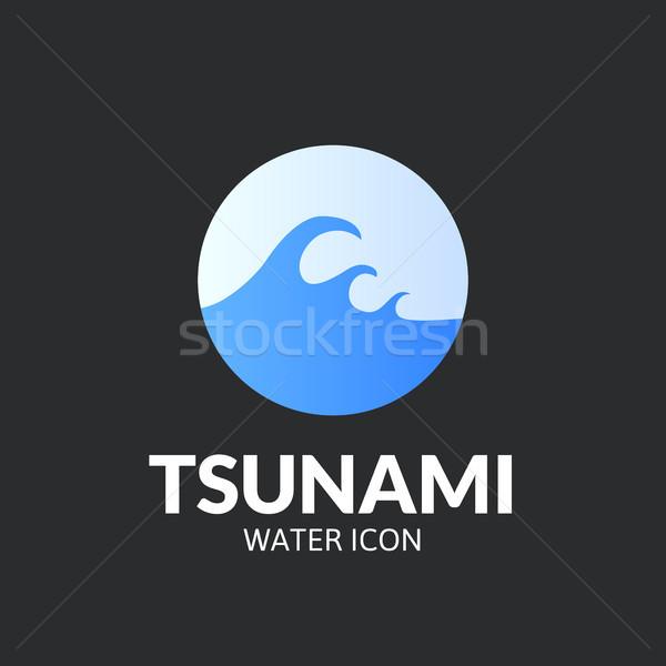 Tsunami logo şablon vektör dizayn su Stok fotoğraf © sidmay