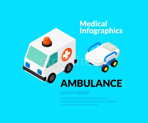 Médicaux santé isométrique icônes Photo stock © sidmay