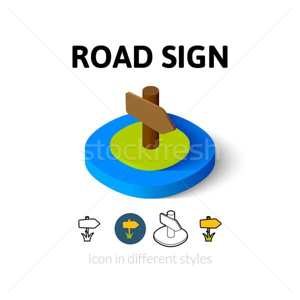 Senalización de la carretera icono diferente estilo vector símbolo Foto stock © sidmay