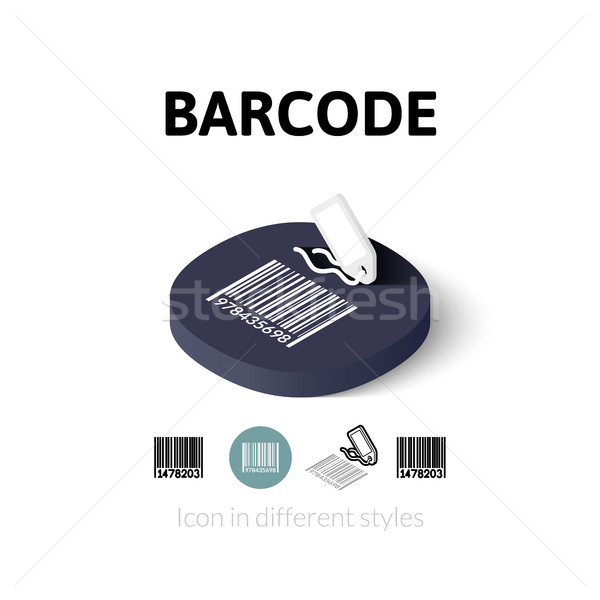 Barcode icon in different style Stock photo © sidmay