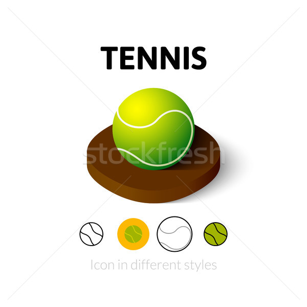 теннис икона различный стиль вектора символ Сток-фото © sidmay