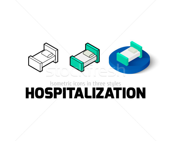 Hospitalization icon in different style Stock photo © sidmay