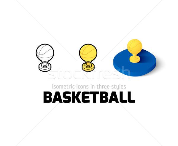 Basket icona diverso stile vettore simbolo Foto d'archivio © sidmay