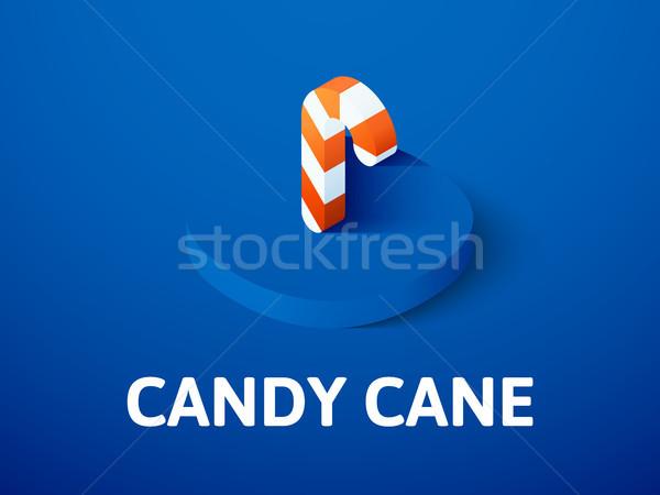 Bonbons canne isométrique icône isolé couleur Photo stock © sidmay