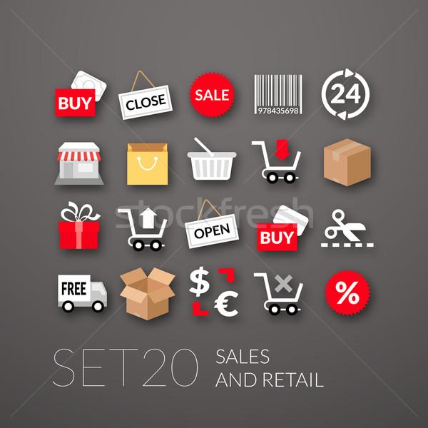 20 продажи розничной коллекция интернет Сток-фото © sidmay