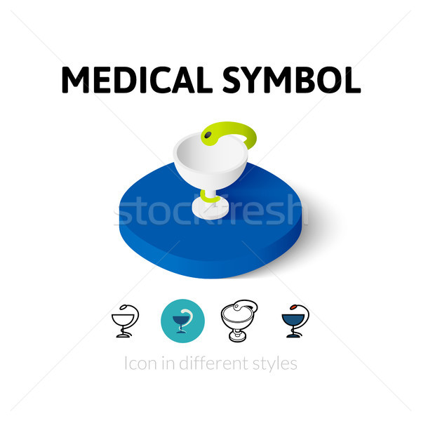 Médico símbolo ícone diferente estilo vetor Foto stock © sidmay